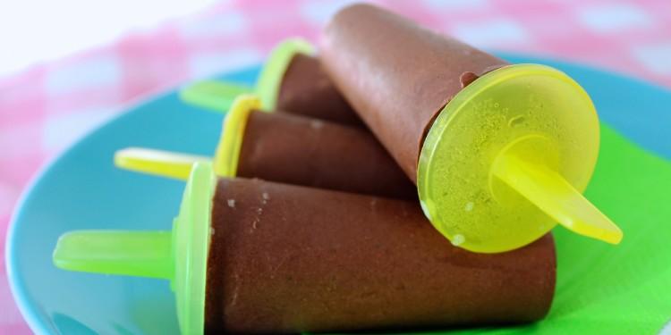 Chocoladefudge ijsjes